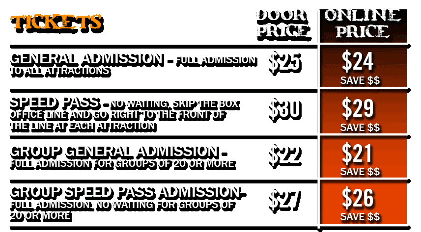 2019 Ticket Prices
